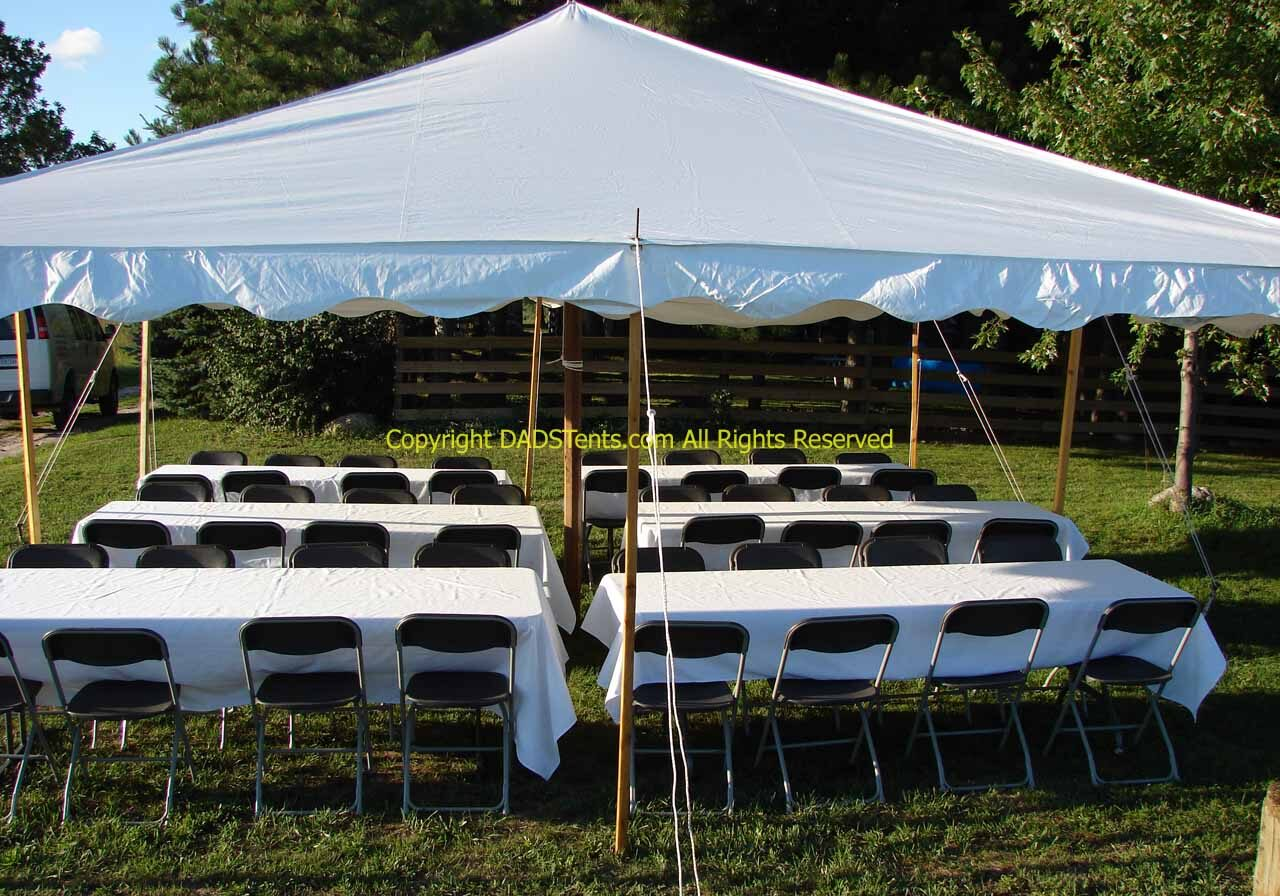 20 X 20 All White Tent